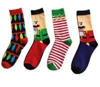 ingrosso pipistrello in cotone-Xmas Men Winter Middle Socks 3D Natale Halloween Festival Cotton Sock Mid Tube Calze Albero Hallowmas Pipistrello Pipistrello Stampato Calzino migliore