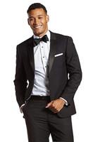große anzüge großhandel-Herren 2-tlg. Anzug Big Tall Tailored Fit Smoking-Anzug für Hochzeit Bussiness Formale Casual Occasion