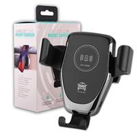 qi зарядное устройство автомобильное крепление оптовых-Беспроводное автомобильное зарядное устройство крепление 10 Вт быстрое автомобильное зарядное устройство Qi Air Vent Phone Holder для iPhone XS MAX XS 8 Plus Samsung Galaxy S10