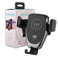 samsung için araba şarj aleti toptan satış-Kablosuz Araç Şarj Dağı 10 W Hızlı Qi Araç Şarj Hava Firar Telefon Tutucu iPhone XS MAX XS 8 Artı Samsung Galaxy S10
