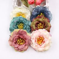 Wholesale peony clip flowers online - 2pcs cm high quality artificial peony silk rose wedding party home decoration DIY wreath gift clip art flower