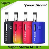 Wholesale vapor mod boxes resale online - 100 Authentic Vapor Storm M1 Kit battery Mod mAh Adjustable Voltage Battery thread Vape Box Mod VS imini palm