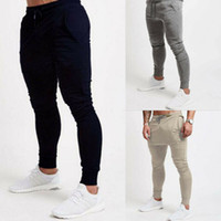 pantalones de yoga hombres al por mayor-Men's Joggers Fit Slim Pants Casual Gym Sport Yoga Trousers
