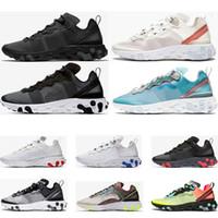 960a57ac Nike Epic React Element 87 Epic React Element 87 кроссовки для мужчин  женщин белый черный NEPTUNE ЗЕЛЕНЫЙ синий мужской тренер дизайнер дышащие  спортивные ...