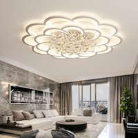 Crystal Modern Led Chandelier For Living Room Bedroom Study Room Home Deco Acrylic 110V 220V Ceiling Chandelier Fixtures free DHL