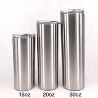 Wholesale straw outdoors for sale - Group buy 15 ooz Stainless Steel Cup Tumbler with Lid and Reusable Straw Travel Water Bottles Outdoor Travel Stemless Water Mug MMA1794