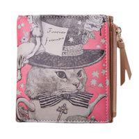 debriyaj çantası marka ss toptan satış-Küçük Kısa Kedi Marka Marka Sevimli Bayanlar Kadınlar için Cüzdan Debriyaj Fermuar Kadın Dolar Mini Cüzdan Çanta Carteira Portföy Para Çantası