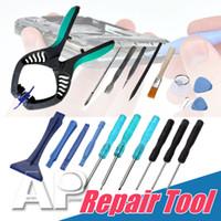 reparo iphone ipad venda por atacado-Kits ferramenta de parafuso de ferramentas de reparação de telefone celular repair torx chave de fenda reparação kit de alavancagem ferramentas de abertura para iphone ipad samsung