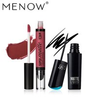 Wholesale dry lipsticks resale online - MENOW Makeup set Long Lasting Matte Liquid Lipstick Moisturizer Lip gloss and Quick Dry Easy to Wear Eyeliner maquiagem