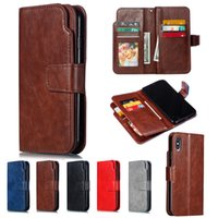Wholesale iphone 7s wallet case for sale - Retro Diary Wallet Card Slots Flip PU Leather Case For iPhone XS Max XR X Huawei Mate Pro P9 P10 P20 Lite P Smart Enjoy S