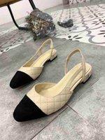 vestido popular para la fiesta al por mayor-Diseñador de cuero genuino de las mujeres populares 2019 sexy sandalias de verano regreso a casa Wedding Party Brand Dress Shoes zapatillas mujer tamaño 33-41