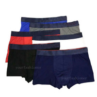 cuecas venda por atacado-100% Famoso Mens Underwear Cueca Boxer Shorts Para Homem Gelo Fresco Seda Projeto Do Vintage Cuecas Adulto Boxer Homem Pênis Cuecas Troncos