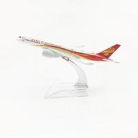 bus für kinder großhandel-1/400 Maßstab Flugzeuge Airbus A350 Hong Kong Airlines 16 cm Legierung Flugzeug Modell Spielzeug Kinder Kinder Geschenk für Sammlung