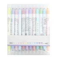 Wholesale fluorescent marker pen colors for sale - Group buy 12 Set Japanese Stationery Zebra Mild Liner Double Headed Fluorescent Pen Fluorescent Marker Pen Highlighter Color Mar