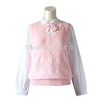 ingrosso giacche rosa maglione-Gilet maglione maglione gilet in jersey da donna