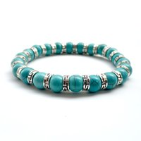 Wholesale beads bohemian bangle for sale - Group buy CBN Red Agate Beads Turquoise Bracelets Natural mm Lapis Lazuli Beaded Stone Charm Jewelry Punk Cuffs Bangles Bracelet Accessories K3449