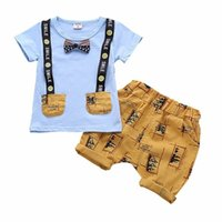 7600b33fb Fashion Kids Cotton Clothing Suit Toddler Smiley Face T-Shirt Pants 2pcs Summer  Children Boys Girl Clothes Baby Casual Tracksuit
