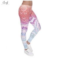 drop ship leggings impressos venda por atacado-Mulheres moda Legging Magro Rodada Ombre Impressão Leggins Aztec cintura alta Mulher Leggings Pants Drop Shipping