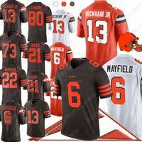 kaliteli formalar toptan satış-13 Odell Beckham Jr forması NCAA 6 Baker Mayfiel 95 Myles 80 Jarvis Landry kaliteli Amerikan Futbolu Jersey
