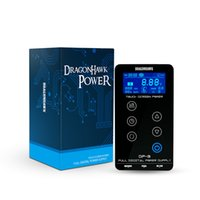 Wholesale lcd tattoo makeup for sale - Group buy Dragonhawk Tattoo Power Supply LCD Power Box for Tattoo Machine Makeup Dual Power Set with Cord P093
