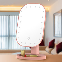 Wholesale vanities mirrors for sale - Group buy 20 LED Touch Screen Makeup Mirror USB Lights Table Vanity Makeup Mirrors Degree Rotation Cosmetic Folding Mirror style GGA3132