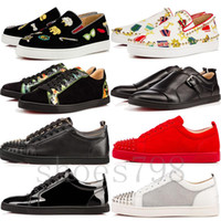 beyaz düşük topuklu toptan satış-Üst 2019 kırmızı alt gz ayakkabı 19ss spike çorap donna spike dipleri sneakers chaussures topuklu erkekler rahat kadın düşük beyaz çizmeler tasarımcı perçin