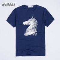t shirt swag new 2021 - E-BAIHUI Hot Sale 2020 New Fashion Cotton Men 100% Clothing Short Man T Shirt Male T-shirts Casual T-Shirts Swag Tops Tees T039