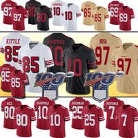 ingrosso maglia di calcio 85-85 George Kittle 97 Nick Bosa 49er Jersey 10 Jimmy Garoppolo 25 Richard Sherman 55 Dee Ford 7 Kaepernick Jerry Rice Maglie