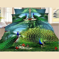 Wholesale peacock bedding sets for sale - Group buy Bedding Duvet Cover Set D Peacock Opening Personality Fashion Series Polyester Duvet Cover Bed Sheet Pillowcases Size