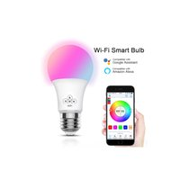 Wholesale voice controlled bulb resale online - Remote Control LED Bulb WIFI Smart Multi Color Dimmable W RGB LEDLight Work Voice Control with Alexa Google Home Compatible IOS android