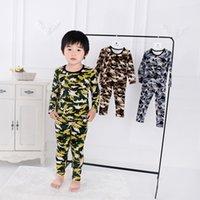 пижама милая оптовых-Детские пижамы набор Динозавр мальчиков пижамы милые девушки пижамы набор Детский дом пижамы Baby Girl / Boy одежда Set LJJK1865