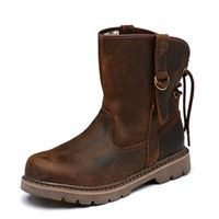 Wholesale british army boots resale online - Brand Genuine Leather Ankle Boots Casual Men Shoes New Autumn And Winter Boots British Army Lovers men shoes