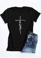ingrosso stili di abbigliamento per le donne-Le donne primavera e l'estate nuovo arrivo stampato lettera a maniche corte T Shirt girocollo sciolto Casual Tees Moda donna Concise Style Abbigliamento