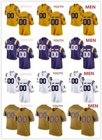 jersey naranja 83 al por mayor-NCAA LSU Camisetas de tigres Justin Jefferson 2 Jaray Jenkins 83 Camiseta de Michael Martin HOMBRE MUJERES JÓVENES amarillo púrpura Blanco oro fútbol camiseta