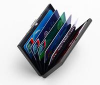 ingrosso titolare del controllo di affari-Business Card's Card Pack Porta carte di credito Bank Metal check sleeve Regali dedicati Antimagnetic be cover soffocati GB322