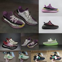 Wholesale pink women running shoes for sale - Group buy 2020 YECHEIL Yeehu Black Static M Reflective Mens Running Shoes Kanye West CLOWHT True Form Bred Women Trainers Sport Sneakers Size