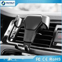 Wholesale in car phone holder magnetic for sale – best Gravity Car Holder For Phone in Car Air Vent Clip Mount No Magnetic Mobile Phone Holder Cell Stand Support For smartphones MQ300