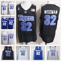 Wholesale black basketball jersey free shipping for sale - Group buy Men s Memphis Tigers James Wiseman NCAA College Basketball Jersey Black White Blue Gray Hot Sale Top Quality S XL