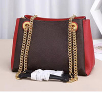 Wholesale large handbags tote leather for sale - Group buy Brand new elegant BB tote women genuine leather pactchwork handbag chain shoulder bags surene pochette purse shopping bag large wolum