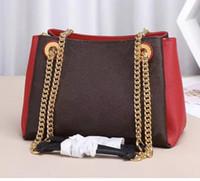 marka çanta kadın büyük toptan satış-Marka yeni zarif BB tote kadınlar hakiki deri paktwork çanta zincir omuz çantaları surene poşet çanta alışveriş çantası büyük wolum 43775
