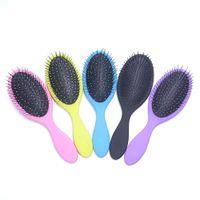 10pcs lot Hair Comb Brush Salon Detangling Kids Gentle Women men Combs Wet & Dry Bristles handle
