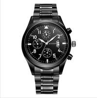 cintos de tungstênio venda por atacado-Relógio de cinto de aço dos homens casuais clássicos Moda relógio de quartzo homens à prova d 'água Calendário relógio de cor de aço de tungstênio