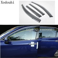Wholesale plastic windows for cars resale online - car styling body cover plastic Window glass Wind Visor Rain Sun Guard Vent For Toyota New Camry XV70