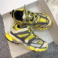 sarı renkli f4 toptan satış-2019 Satış Parça Paris Üçlü S 3.0 Gri Turuncu Sarı Rahat Ayakkabılar Platformu Sneakers Tess S. Gomma Trek Erkek Eğitmenler f4