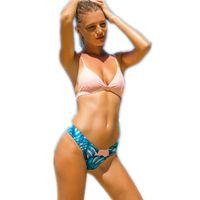 Wholesale yellow padded bikini online – Newest Bikini Swimwear Women Swimsuit Bathing Suit Brazilian Bikini Set Vintage Printed Padded Beachwear Swimsuit Size S L