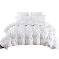mantas de reina al por mayor-2,7 ~ 4,9 kg ganso / Pato tamaño edredón edredón Rey Reina Doble blanco / azul / rosa / marrón manta de invierno de lujo consolador de relleno