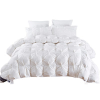 Wholesale white king size blanket for sale - Group buy 2 kg Goose Duck Down Quilt Duvet King Queen Twin size White Blue Pink Brown Luxury Winter Blanket Comforter Filler