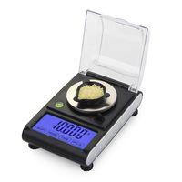 ingrosso bilance di milligrammi-Alta precisione 50g 0.001g LCD da laboratorio bilanciamento digitale Milligram gioielli diamante oro scala laboratorio elettronico grammi di conteggio 0.001