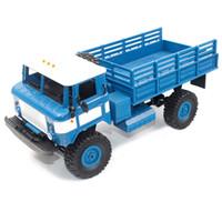 rueda electrica 16 al por mayor-WPL B - 24 1:16 2.4G Mini Off-road RC Military Truck RTR Tracción en las cuatro ruedas 10km / h Velocidad máxima Military RC Truck Electric Toy