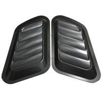 cubiertas de la campana de ventilación al por mayor-1 par Car Air Flow Scoop Turbo Bonnet Respiradero Capucha Fender Hood Gris / Negro